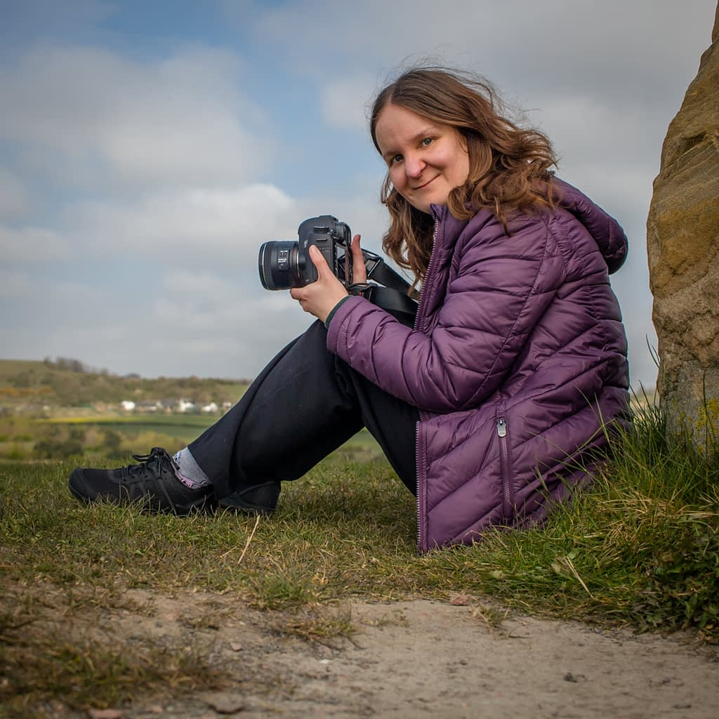 Catherine Tuckwell Personal Brand Photography - outdoors in nature with camera