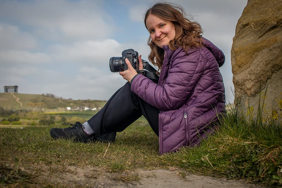 Catherine Tuckwell Brand Photography in Herrington Country Park, Sunderland, with Penshaw Monument.