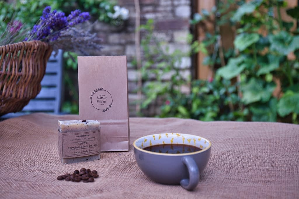 Catherine Tuckwell Personal Brand Photography - eco-friendly photographer handmade soap with coffee mug and coffee beans