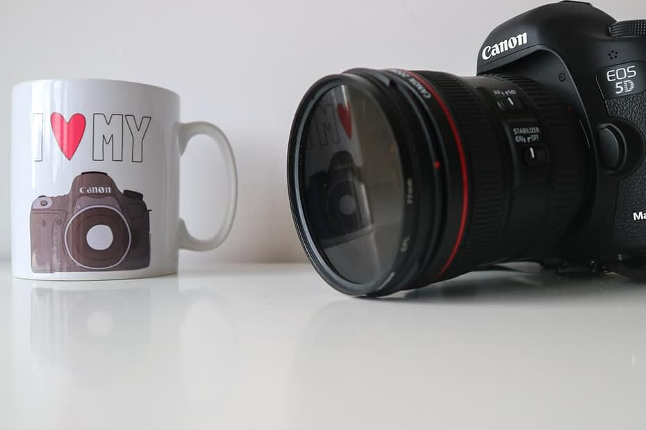 Catherine Tuckwell Personal Brand Photography white mug and camera