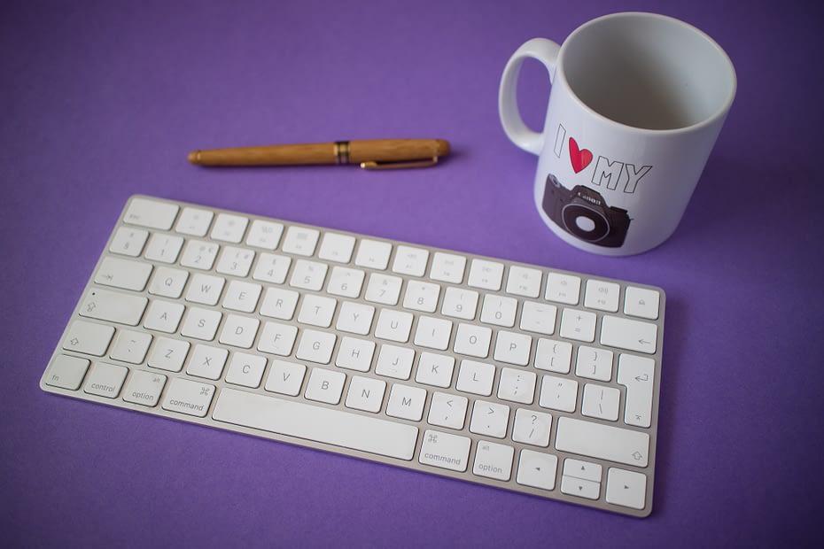 Catherine Tuckwell Personal Brand Photography mug and keyboard